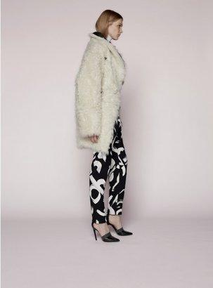 Proenza Schouler Double Breasted Shearling Coat