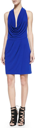 Yigal Azrouel Cut25 by Drape-Front Colorblock Jersey Dress