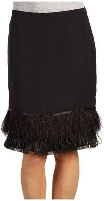 Anne Klein Skirt w/ Feathers (Black) - Apparel