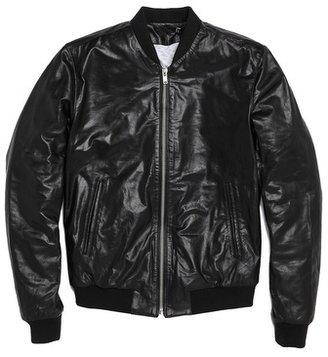 BLK DNM Leather Bomber Jacket 81