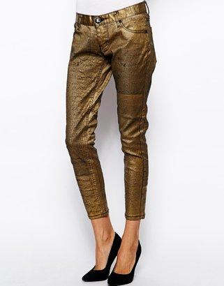 One Teaspoon Golden Iggys Jeans - Gold