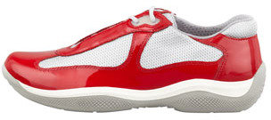 Prada Linea Rossa America's Cup Sneaker, Red