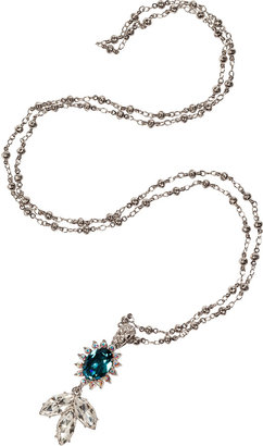 Mawi Silver-Plated Daisy Gemstone Pendant Necklace