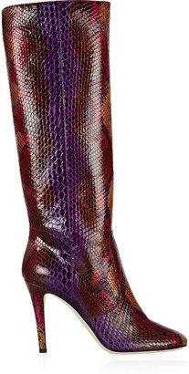Jimmy Choo Tosca python knee boots