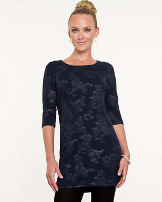 Le Château Foil Knit 3/4 Sleeve Tunic Top