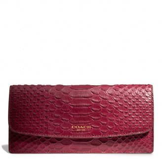 Coach Legacy Soft Wallet In Python Embossed Leather