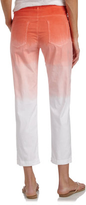 XCVI Ombre Inside-Drawstring Cropped Pants