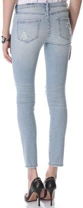 Blank Distressed Skinny Jeans