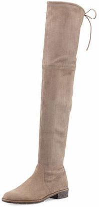 Stuart Weitzman Lowland Suede Over-The-Knee Boot, Praline $798 thestylecure.com
