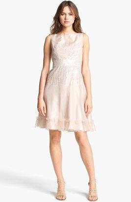 Hilton Kathy Embellished Fit & Flare Dress