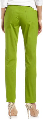 Lafayette 148 New York Studio 148 by Five-Pocket Relaxed Jeans, Verde