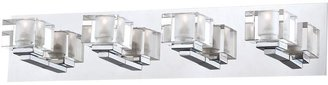 Eurofase Prism Collection 4-Light Chrome Bathbar