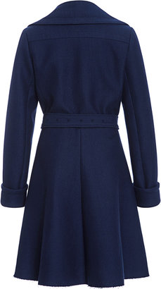 Peter Som Wool Twill Coating Peacoat With Belt