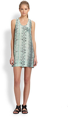 Joie Exclusive Peri Snakeskin Print Silk Dress