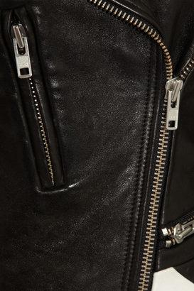 IRO Hyde paneled leather biker jacket