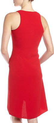 Rachel Roy Bias-Cut Crepe Drape Dress, True Red