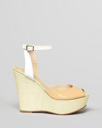 Juicy Couture Peep Toe Platform Wedge Sandals - Dafne