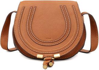Chloé Marcie Small Leather Crossbody Bag, Tan