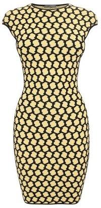 Alexander McQueen 3D Honeycomb Mesh Jacquard Mini-Dress