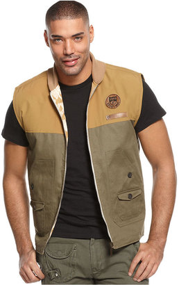 Rocawear Vest, Diamond Tribe Reversible Vest
