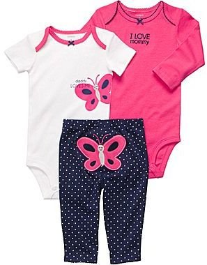 Carter's Butterfly Turn-Me-Around Set - Girls newborn-24m