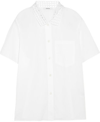 Carven Broderie anglaise cotton-poplin shirt