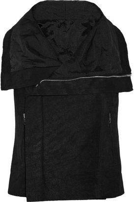 Rick Owens Blister brushed-leather biker vest