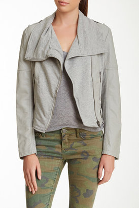 BNCI by Blanc Noir Quilted Pleated Cascade Moto Jacket $120 thestylecure.com