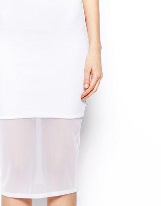 Asos Textured Mesh Cami Midi Dress