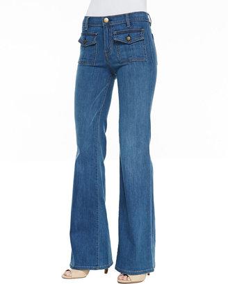Current/Elliott Dixie Wide-Leg Jeans, Cooper