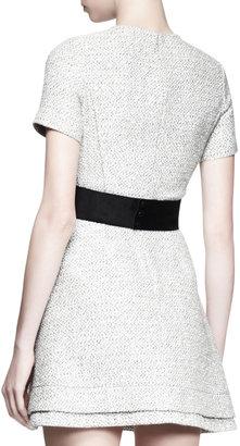 Proenza Schouler Tweed Contrast-Waist Dress