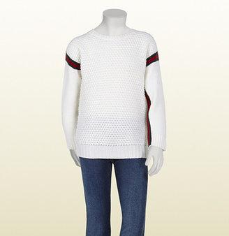 Gucci Merino Wool Sweater With Web