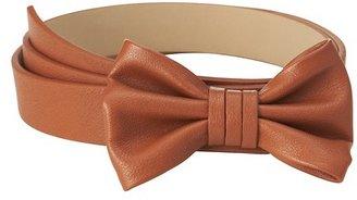 LOFT Leather Bow Belt