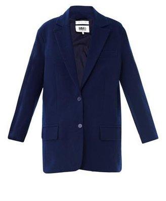 Maison Martin Margiela Single-breasted cotton-wool coat