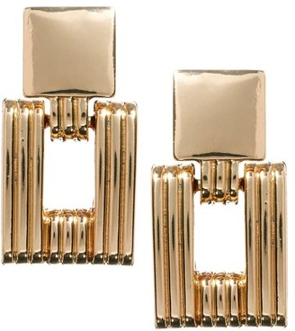 Asos Articulated Chain Link Earrings - Gold