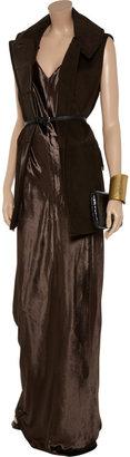 Alexander Wang Panne-velvet cami maxi dress