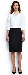 Lands' End Women's Regular Washable Wool Skirt-Bright Cherry Stripe $55 thestylecure.com