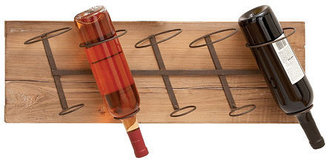 Wood Metal Wine Rack