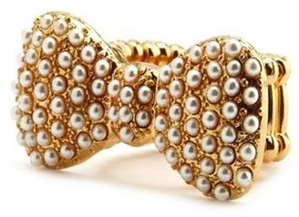 Charlotte Russe Pearl Bow Stretch Ring