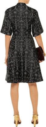 Temperley London Fleur cotton-blend jacquard dress