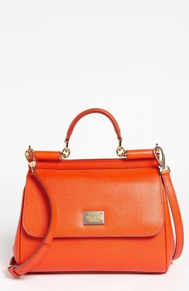 Dolce & Gabbana 'Miss Sicily - Small' Leather Satchel