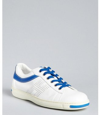 Hogan white and blue leather 'Campus' sneakers