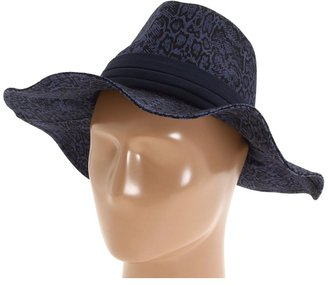 Jessica Simpson Snake Skin Floppy (Sky Diver Blue) - Hats