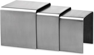 ZUO Aura Stainless Steel Nesting Table (Set of 3)