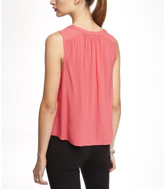 Express Cropped Sleeveless Trapeze Blouse