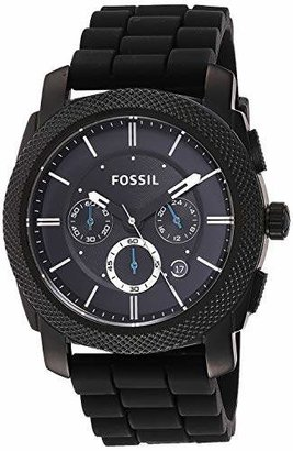 Fossil Men's Machine Quartz Stainless Steel and Silicone Chronograph Watch