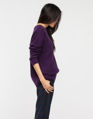 Just Female Ango Knit in Purple
