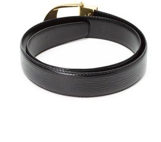 Louis Vuitton Pre-Owned: black epi leather 'Ceinture Classique' belt