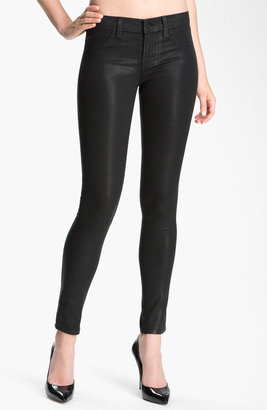 J Brand 'The Legging' Coated Stretch Jeans (Stealth)