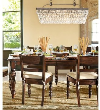 Pottery Barn Clarissa Crystal Drop Rectangular Chandelier